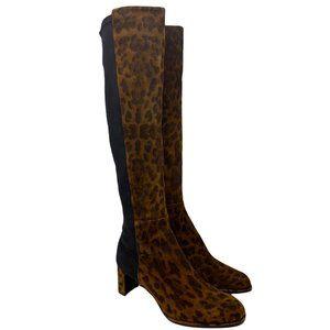 New Stuart Weitzman Animal Print Boots Size 36 US 5.5